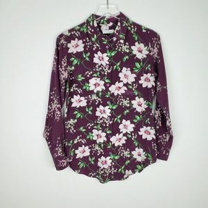 Equipment Femme Silk Floral Button Up